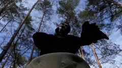 Tale in the Forest. Costume of Baba Yaga. Dance. Stock Footage