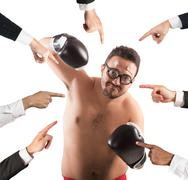 All against a person - stock photo