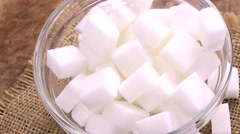 Rotating white Sugar (4K; not loopable) - stock footage