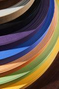 Set of colored thermoplastic edges Stock Photos