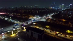 Traffic on interchange of Olympic freeway and Banpo speedway Stock Footage