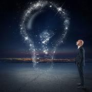 Bright idea as the stars - stock photo