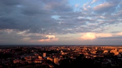 Stock Video Footage of Time-lapse Clouds Moving Through The Ancient City at Sunset