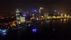 Cityscape with several vessels on Hanghan river at autumn Stock Footage