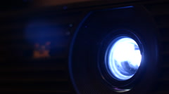 Beam Projector on a Black Background, Close-Up Stock Footage