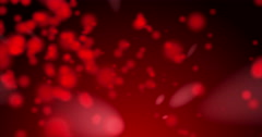 Lens faded particles on red background. - stock footage