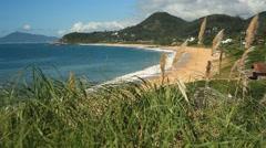 Balneario Camboriu - Brazil - Estaleiro Beach Stock Footage