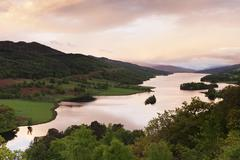 Loch Tummel at dawn Tayside Scotland United Kingdom Europe - stock photo