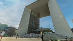 Time Lapse of Business center La Defense. - stock footage