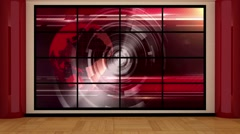 News TV Studio Set Virtual Green Screen Background Loop Stock Footage