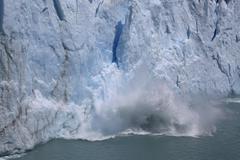 Perito Moreno Glacier Lake Argentino Los Glaciares National Park Patagonia - stock photo