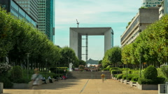 Time Lapse of Business center La Defense. Stock Footage