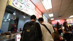 Food court in Suvarnabhumi airport Stock Footage
