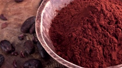 Portion of Cacao Powder (seamless loopable) Stock Footage