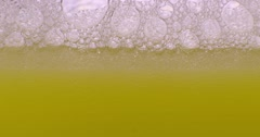 Color drops floating in oil and water with oil painting effect. Stock Footage