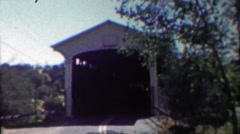 1958: Kraft cheese delivery truck coming out of bridge tunnel. Stock Footage