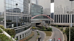 La Defense, commercial and business center of Paris, France. Stock Footage