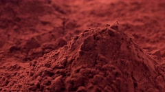 Portion of Cacao Powder (seamless loopable) - stock footage