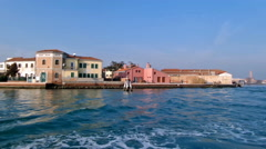 View of one part of Venice, with boats moving - stock footage