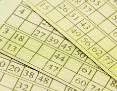 gambling lottery, close-up - stock photo