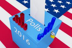 Election 2016 Polls Concept Stock Illustration