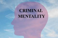 Criminal Mentality mental concept - stock illustration