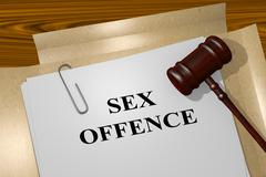 Sex Offence concept - stock illustration