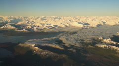 Flying Over Alaska Wrangell St Elias Preserve Mountains Stock Footage