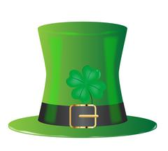 Irish Green Top Hat Stock Illustration