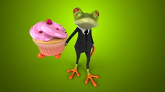 Computer animation - Fun frog Stock Footage