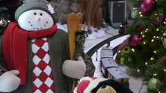 Christmas Train Display 5 Stock Footage