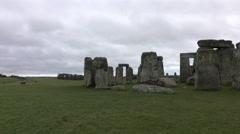 Stonehenge prehistoric monument Amesbury England 4K Stock Footage