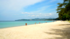 People Relax At The Beach In Thailand.  Miniature. Stock Footage