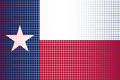 Texas State Doted Flag Stock Illustration