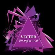 Abstract triangles. Triangle background. Vector illustration Stock Illustration