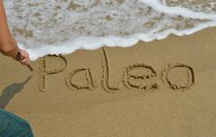 Paleo lettering - stock photo