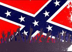 Confederate Civil War Flag Audience Stock Illustration