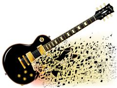 Shattering Blues Guitar - stock illustration