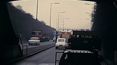 Holland 1971: driving in the streets Stock Footage