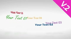 Rotative Texts Display (V.2) - After Effects Template - stock after effects