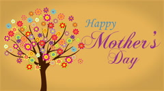 Happy mothers day quote Stock Footage