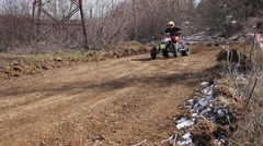 Atv on the track - stock footage
