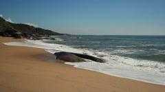Balneario Camboriu - Brazil - Taquaras Beach Stock Footage