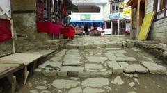 A walk in Namche Bazaar in Nepal Stock Footage