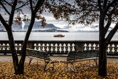 Lake Maggiore, Piedmont, Lombardy, Italy - stock photo