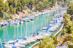 Port Pin in the calanques of Cassis, south of France Stock Photos