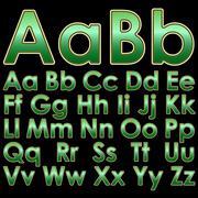 Stock Illustration of Alphabet pseudo 3d letters