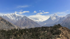 Time lapse in the Nepalese Himalayas close to Everest - stock footage