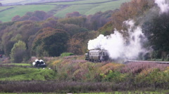 Pannier tank and autocoach on the East Lancashire Railway Stock Footage