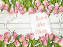 Wedding Invitation Cards. EPS 10 Stock Illustration
